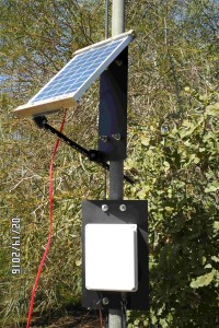 solar panel with transmitter